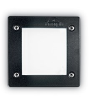 Spot in pardoseala Leti patrat, 1 LED, dulie GX53, L:115 mm, H:80 mm, Negru