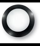 Aplica de exterior Berta mica, 1 LED, dulie GX53, D:200 mm, H:70 mm, Negru