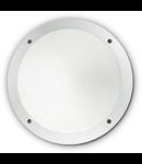 Aplica de exterior Lucia 1, 1 bec, dulie E27, D:300 mm, H:90 mm, Alb