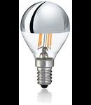Bec LED Sfera Crom, dulie E14, 4 W - 3000 K, lumina calda