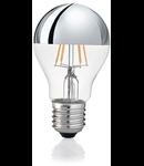 Bec LED Goccia Cromo, dulie E27, 4 W - 3000 K, lumina calda