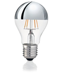 Bec LED Goccia Cromo, dulie E27, 8 W - 3000 K, lumina calda