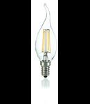 Bec LED Colpo di vento transparent, dulie E14, 4 W - 3000 K, lumina calda