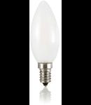 Bec LED Oliva alb, dulie E14, 4 W - 3000 K, lumina calda
