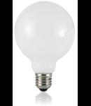 Bec LED Globo alb, dulie E27, 8 W - 3000 K, lumina calda, D: 95 mm