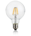 Bec LED Globo transparent, dulie E27, 8 W - 3000 K, lumina calda, D: 95 mm