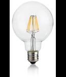 Bec LED Globo transparent, dulie E27, 8 W - 3000 K, lumina calda, D: 95 mm