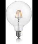 Bec LED Globo transparent, dulie E27, 8 W - 3000 K, lumina calda, D: 125 mm
