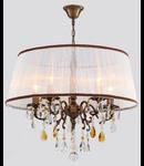 Lampa Cannella,5 becuri dulie E14, 230V,D.57cm, H.51 cm,Bronz
