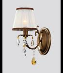 Aplica Elegant cannella,1 x E14, 230V, D.15cm,H.35 cm,Bronz