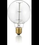 Bec incandescent decorativ Globo, 25W, E27, 60Lm