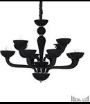 candelabru Casanova, 12 becuri, dulie E14, D:890 mm, H:750/1650 mm, Negru