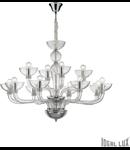 candelabru Casanova, 12 becuri, dulie E14, D:890 mm, H:750/1650 mm, Transparent