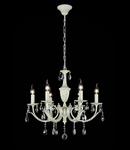 Candelabru Verona ,6 becuri dulie E14, 230V,D.64cm, H.65 cm,Alb
