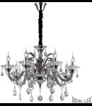 candelabru Colossal, 8 becuri, dulie E14, D:780 mm, H:700/1800 mm, Gri
