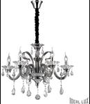 candelabru Colossal, 6 becuri, dulie E14, D:660 mm, H:700/1800 mm, Gri