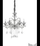 candelabru Colossal, 6 becuri, dulie E14, D:660 mm, H:700/1800 mm, Transparent