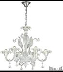 candelabru Ca' Vendramin, 6 becuri, dulie E14, D:800 mm, H:900/1350 mm, Transparent