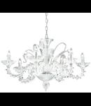 candelabru San Marco, 6 becuri, dulie E14, D:900 mm, H:900/1670 mm, Transparent