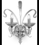 aplica San Marco, 2 becuri, dulie E14,  L:490 mm, H:550 mm, Transparent