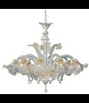 candelabru Rialto, 8 becuri, dulie E14, D:900 mm, H:950/1100 mm, Chihlimbar