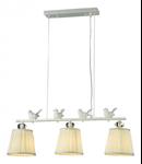 Candelabru Flitter,3 becuri dulie E14, 230V,D.68 cm, H.26 cm,Alb