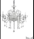 candelabru Canaletto, 8 becuri, dulie E14, D:750 mm, H:850/1700 mm, Transparent