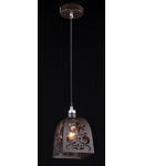 Lampa suspendata Ferro,1 bec dulie E14, 230V,D.18 cm, H.41 cm,Maro