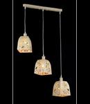 Lampa suspendata Ferro,3 becuri dulie E14, 230V,D.46 cm, H.130 cm,Crem
