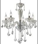 candelabru Tiepolo, 5 becuri, dulie E14, D:560 mm, H:750/1350 mm, Transparent