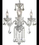 candelabru Tiepolo, 3 becuri, dulie E14, D:480 mm, H:700/1300 mm, Transparent