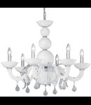candelabru Windsor, 6 becuri, dulie E14, D:760 mm, H:630/1100 mm, Alb