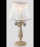 Veioza Elegant Pastello 1 bec,dulie E14,230V,Diam. 22cm ,H 40cm,crem