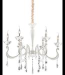 candelabru Candido, 6 becuri, dulie E14, D:880 mm, H:950/1750 mm, Alb