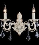 Aplica Elegant Bronze,2 x E14, 230V, D.40cm,H.38 cm,Alb-auriu