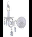Aplica Elegant Pietra,1 x E14, 230V, D.12cm,H.21 cm,Alb-auriu