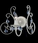 Aplica Elegant Princess,1 x E14, 230V, D.36cm,H.31 cm,Alb