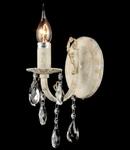 Aplica Elegant Pala,1 x E14, 230V, D.9cm,H.25 cm,Alb-auriu