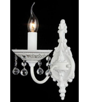 Aplica Elegant Belona,1 x E14, 230V, D.13 cm,H.28 cm,Alb