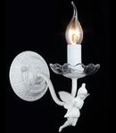 Aplica Elegant Angel,1 x E14, 230V, D.12 cm,H.19 cm,Alb-Auriu