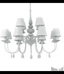 candelabru Blanche, 12 becuri, dulie E14, D:920 mm, H:930/1730 mm, Alb