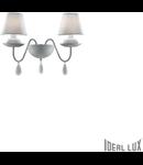 aplica Blanche, 2 becuri, dulie E14, L:400 mm, H:345 mm, Alb