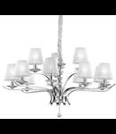 candelabru Pegaso, 12 becuri, dulie E14, D:1020 mm, H:750/1600 mm, Crom