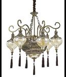 candelabru Harem, 9 becuri, dulie E27, D:750 mm, H:800/1700 mm, Alama