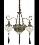 candelabru Harem, 5 becuri, dulie E27, D:730 mm, H:800/1250 mm, Alama