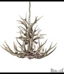 candelabru Chalet, 12 becuri, dulie E14, D:1000 mm, H:750/1700 mm, Maro