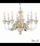 candelabru Firenze, 8 becuri, dulie E14, D:640 mm, H:450/1050 mm, Alb