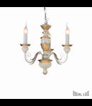 candelabru Firenze, 3 becuri, dulie E14, D:480 mm, H:450/1050 mm, Alb