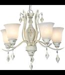 Candelabru  House Lampada,5 x E27, 230V, D.62cm,H.56 cm,Alb