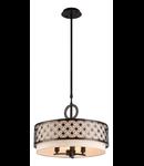 Lampa suspendata  House Venera,3 x E14, 230V, D.46cm,H.35 cm,Maro inchis